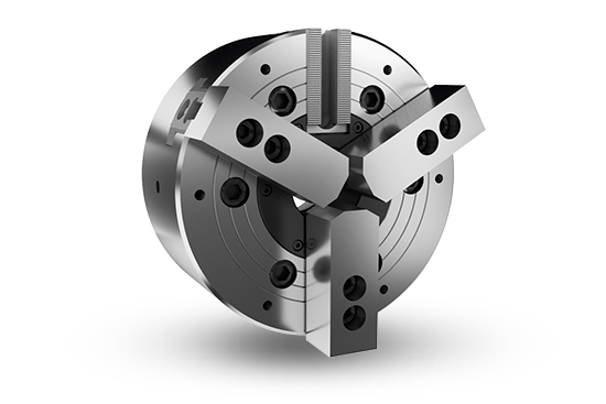2-jaw and 3-jaw through-hole power chuck (adapter included)