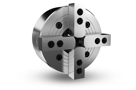 4-jaw through-hole power chuck (adapter excluded)