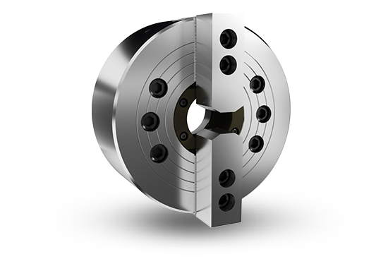 2-jaw through-hole power chuck (adapter excluded)